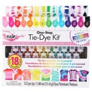 Tulip One Step 18-Color Tie-Dye Kit Safe to Machine Wash