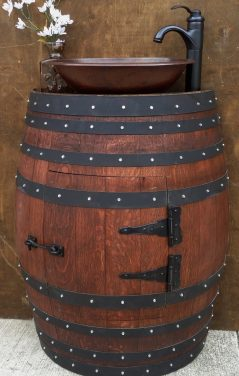 Wood this barrel sink in your house?