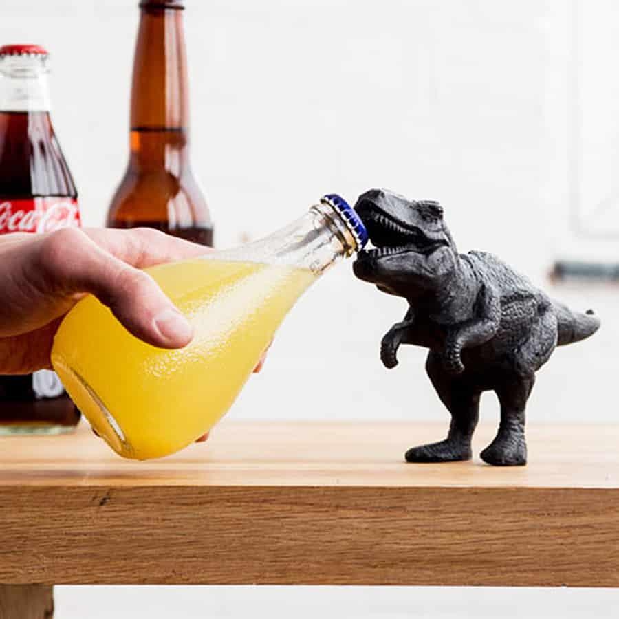 Open your bottles like a savage lizard king.