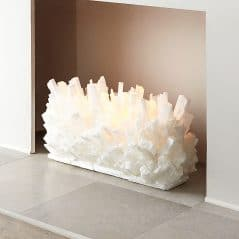 Elegant fireplace sculpture that rocks.