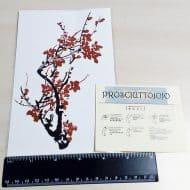 prosciuttojojo-red-plum-blossom-temporary-tattoo-body-art