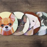 teide-shop-polygonal-dog-coaster-set-animal-coasters