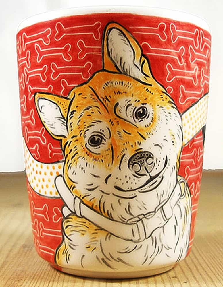 Put your dog's mug on a mug.