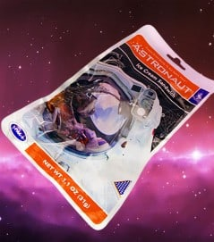 Eat freeze dried space food ice cream sandwich!