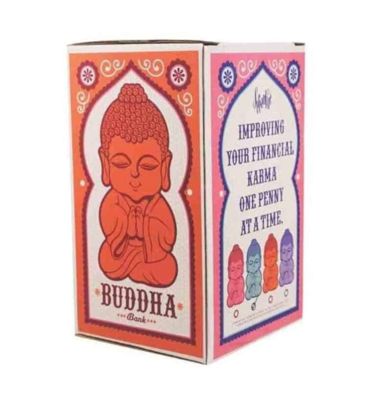 Buddha Money Bank Colorful Eastern Mystic Box Design