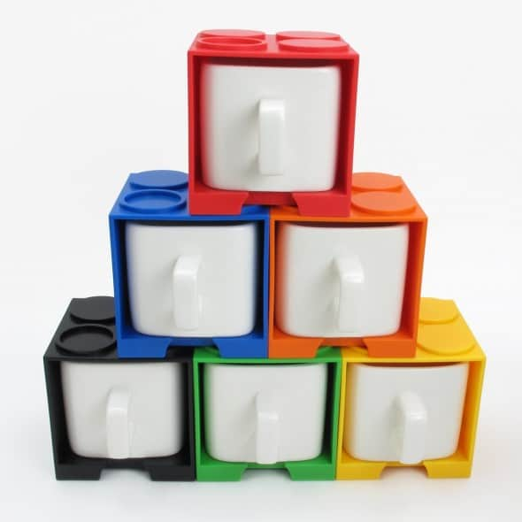 Cube Mug  Pyramid Stack