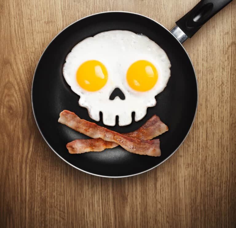 Fred Funny Side Up Skull Shaped Egg Mold Jolly Roger Breakfast