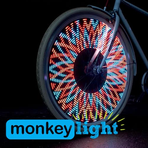 Monkey Light Red Blue