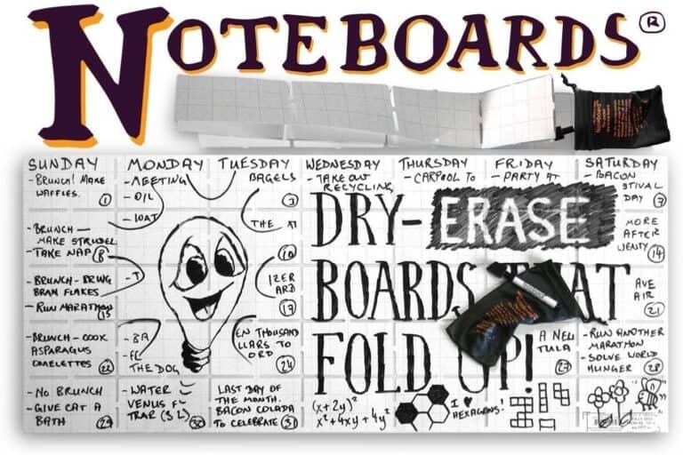 Noteboards Full-size Foldable Pocket Whiteboard