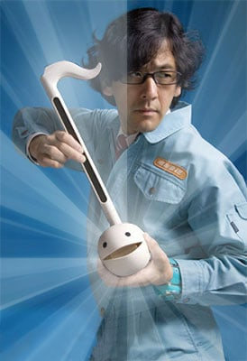 Otamatone-deluxe-Weird-Toy-blue-poster