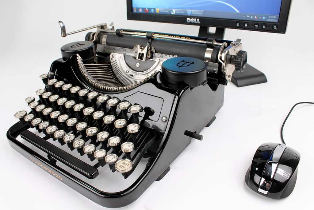 USB Typewriter Black Underwood Desktop