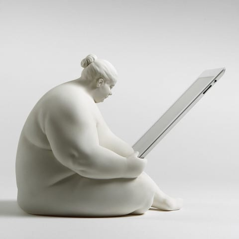 Venus of Cupertino - iPad Docking Station Side View
