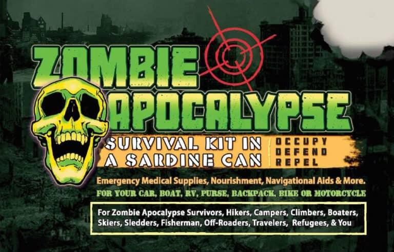 Zombie Survival Sardine Can For Apocalypse Survivors