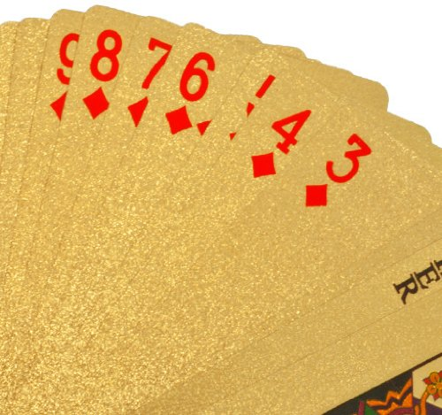 24k Gold Playing Cards Spread