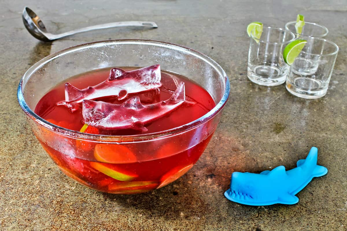 3d Shark Ice Mold Swimming on Punch