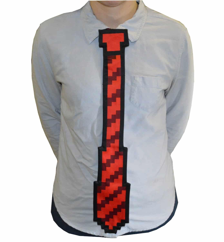 8 Bit Pixel Tie Red
