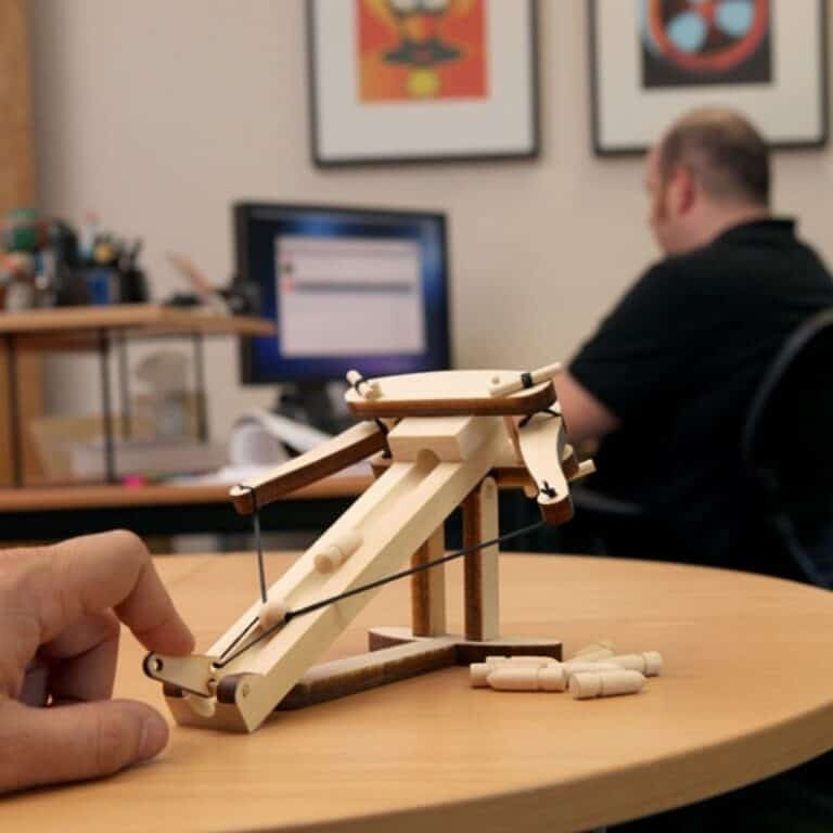 Abong Miniature Ballista Kit Fun Desktop Weapon