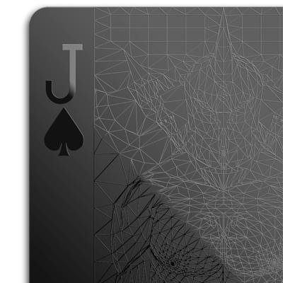 Black Playing Cards Jack