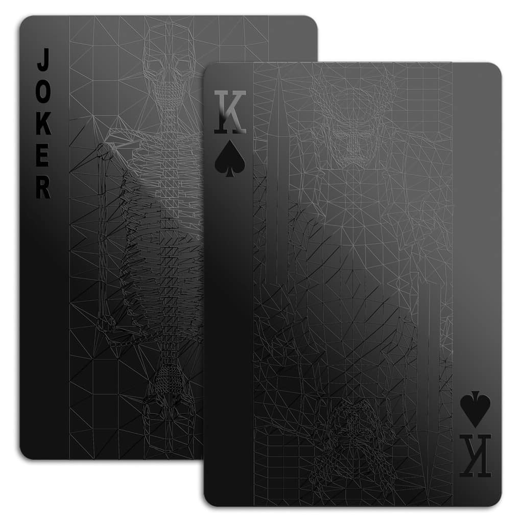 Black Playing Cards Joker & King Full Size