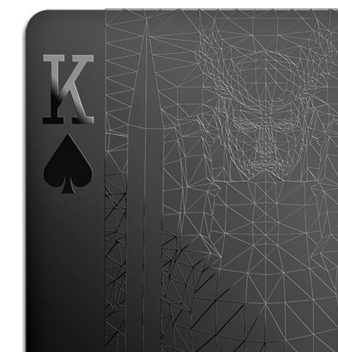 Black Playing Cards King Close-up