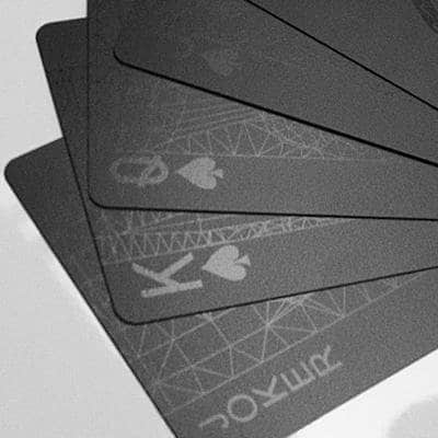 Black Playing Cards Set Fan
