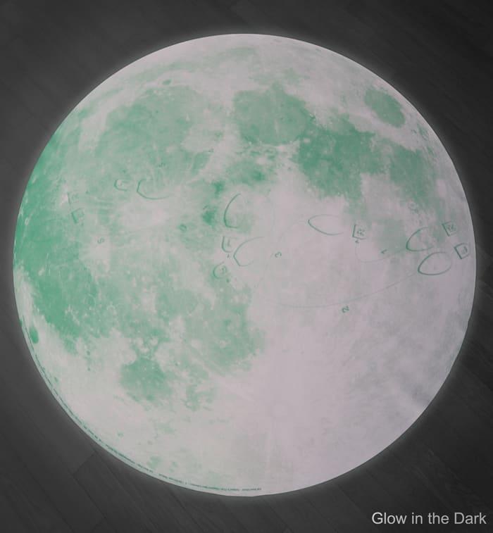 Blue Moon Waltz Rug Glow in the Dark