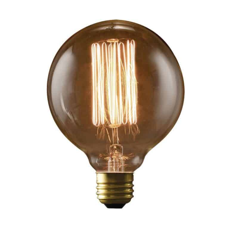 Bulbrite Vintage NOS40G30 40W Nostalgic G30 Edison Globe with Thread Filament Style