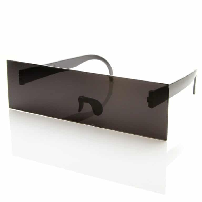 Censor Bar Black Square Sunglasses Cool Party Accessory
