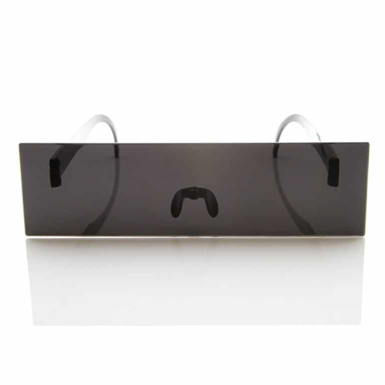Censor Bar Black Square Sunglasses Front