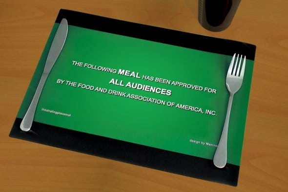 Cinema Placemats Funny Gift Idea