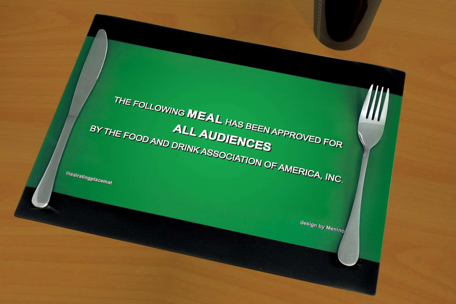 What does your placemat say about your meal's rating?