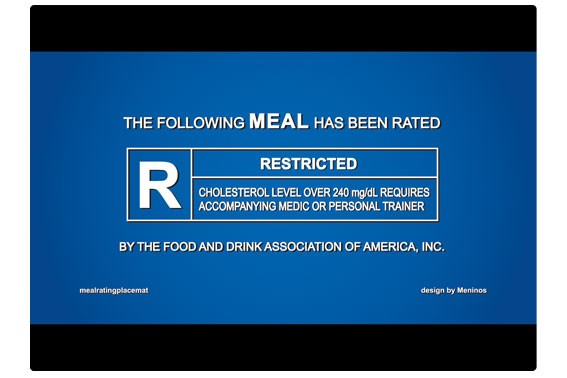 Cinema Placemats  Restricted Blue