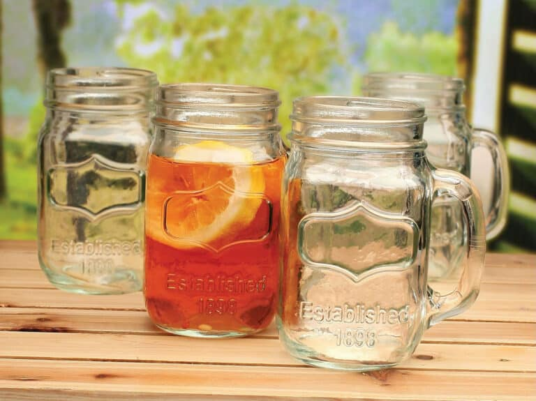 Circle Glass Yorkshire Mason Jar Mug Country Themed Gift Idea