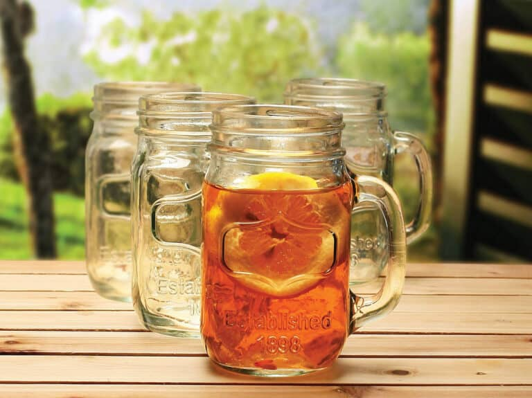 Circle Glass Yorkshire Mason Jar Mug Redneck Style