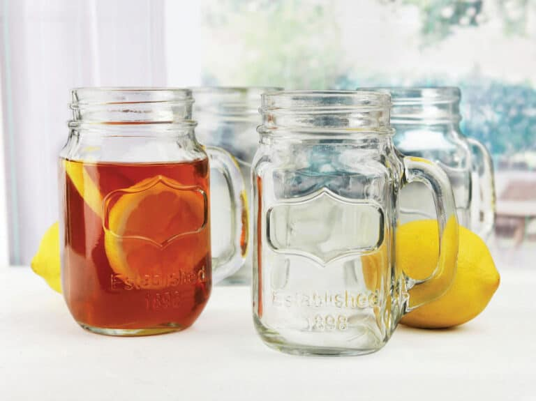 Circle Glass Yorkshire Mason Jar Mug Wedding Party Favors Idea
