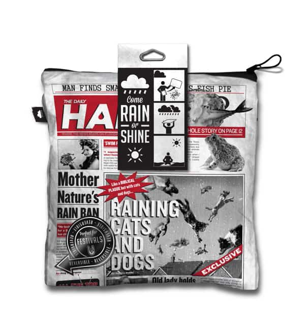 Come Rain Or Shine - Newspaper Bag