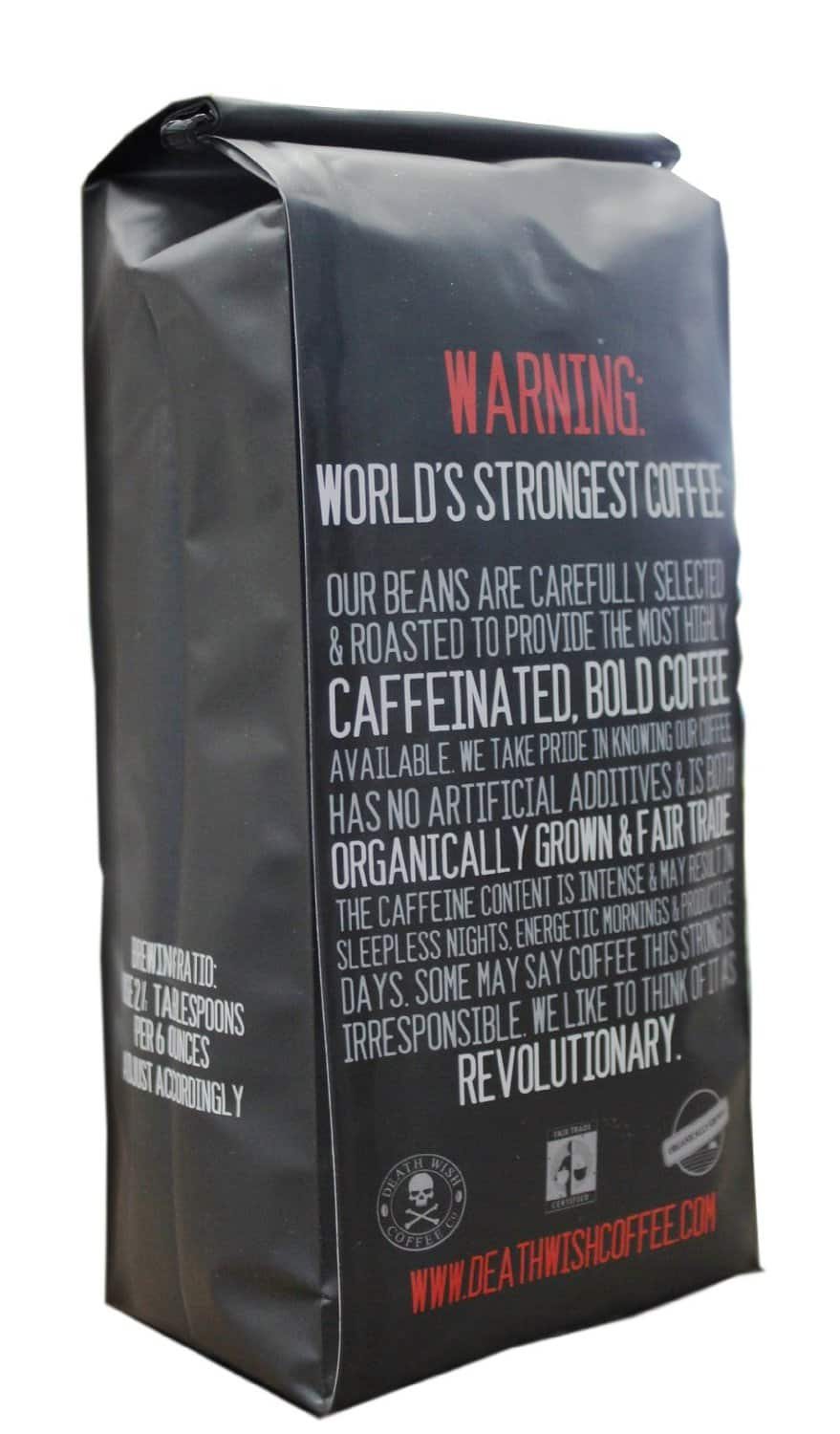 Death Wish Worlds Strongest Coffee Package Back