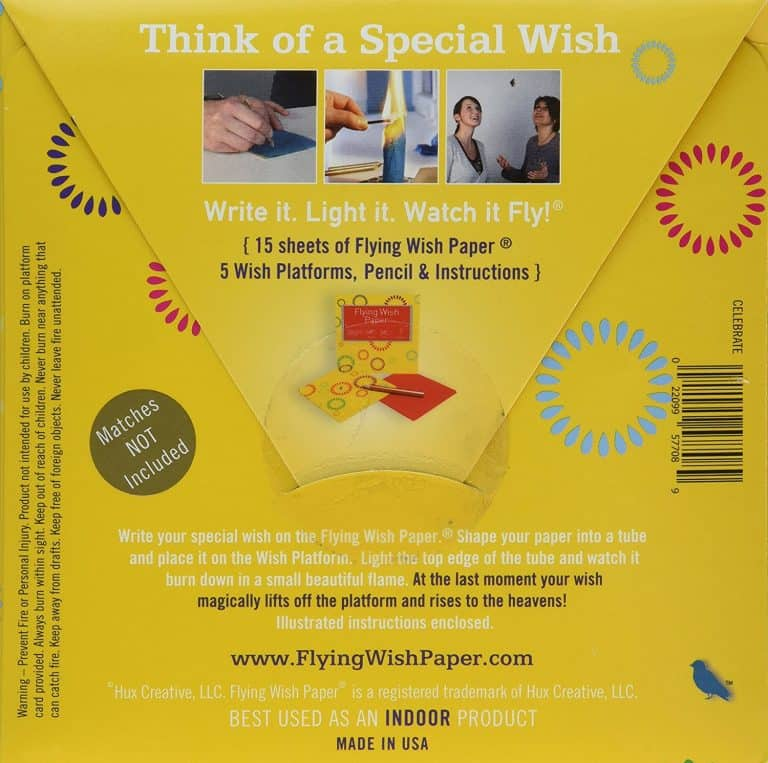 Flying Wish Paper Box Information