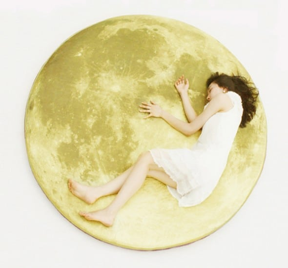 Full Moon Odyssey Floor Mattress Sleeping Girl