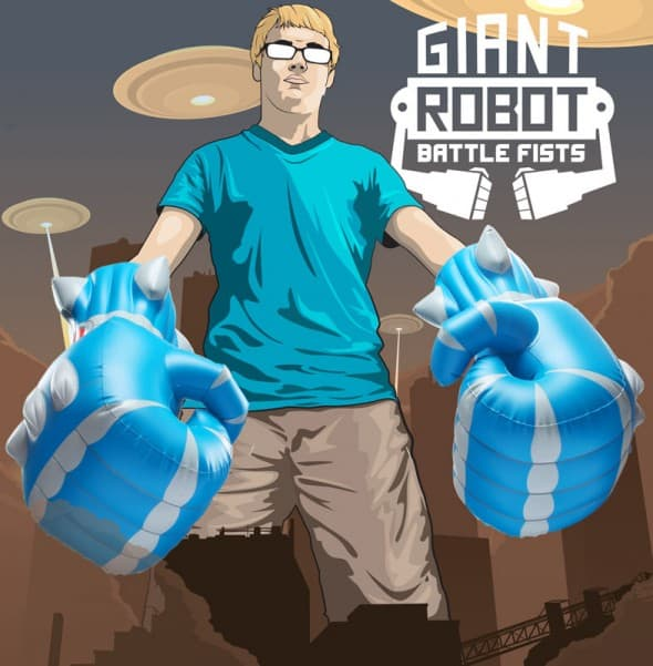 Giant Robot Battle Fists Poster Boy