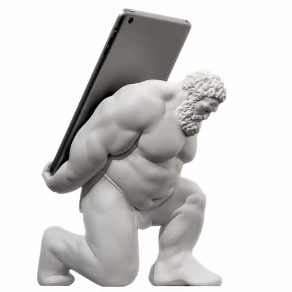 HerculesXIII White Sculpture Ipad Dock Station