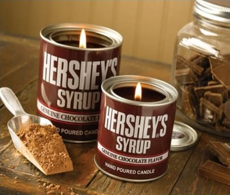 Hersheys Syrup Soy Candles