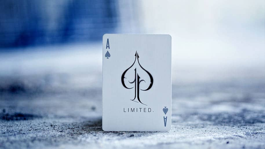 LTD Playing Cards Deck Blue Ace of Spades
