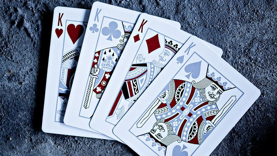 LTD Playing Cards Deck Blue King Face Cards