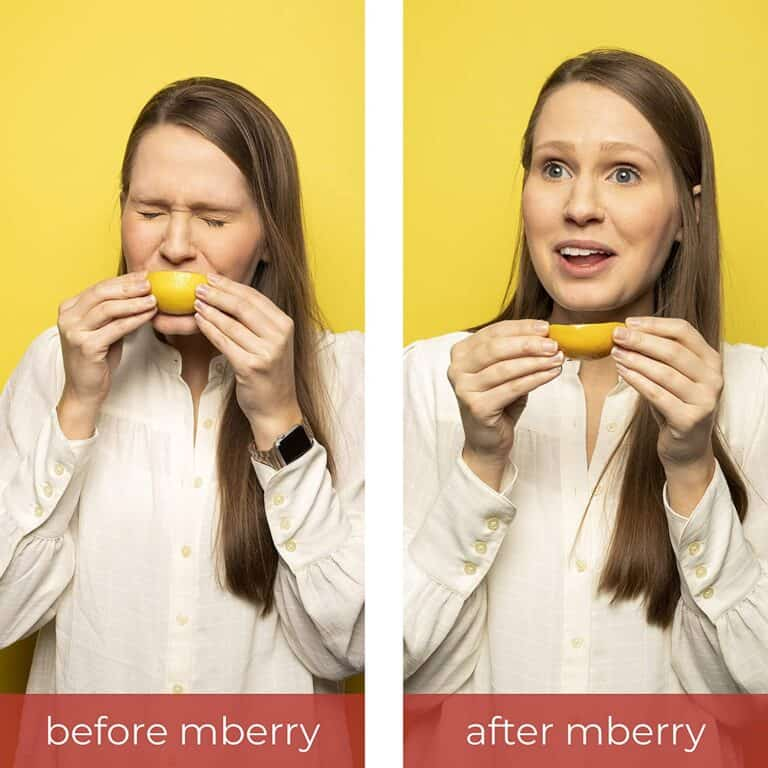 Mberry Miracle Berry Fruit Tablet Before and After Taste