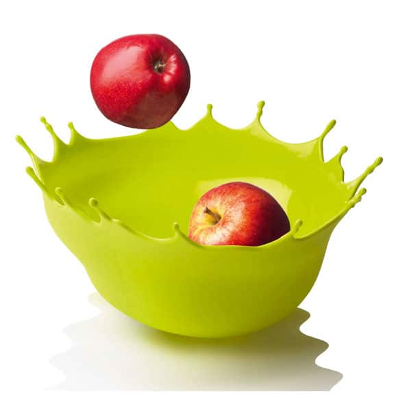 Menu Dropp Splash Fruit Bowl Red Apple Green