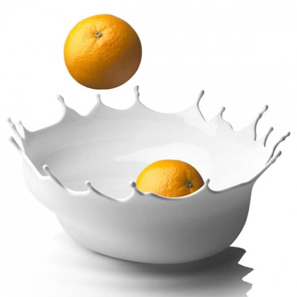 Menu Dropp Splash Fruit Bowl White Orange