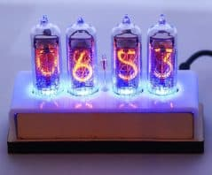 Tell the time with the good old Nixie light bulb.