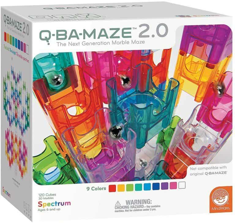 MindWare Q-Ba-Maze 2.0 Marble Maze Builder Set Box Packaging