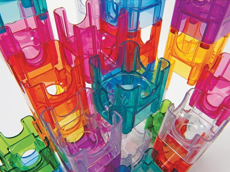 MindWare Q-Ba-Maze 2.0 Marble Maze Builder Set Cool Gift for Kids
